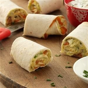 Mediterranean Artichoke and Red Pepper Roll-Ups Recipe