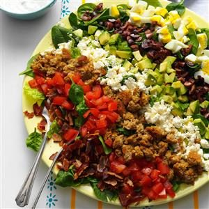 Mediterranean Cobb Salad Recipe