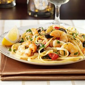 Mediterranean Shrimp Linguine Recipe