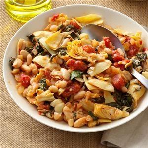 Day 13: Mediterranean Spinach & Beans