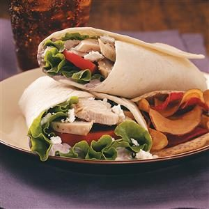 Mediterranean Turkey Wraps Recipe