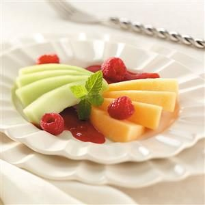 Melon with Raspberry Sauce Recipe