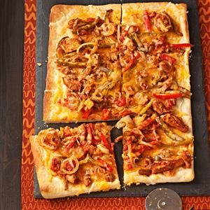 Mexican Chicken Fajita Pizza Recipe