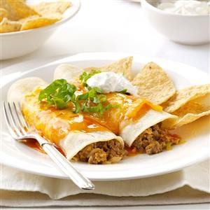Microwave Beef & Cheese Enchiladas Recipe