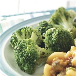 Microwaved Seasoned Broccoli Spears Recipe