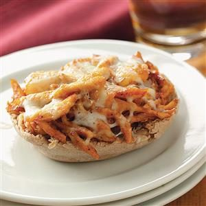Mini BBQ Chicken Pizzas Recipe