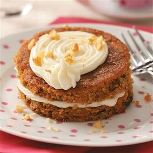 Mini Carrot Cake Tortes Recipe