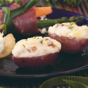 Mini Gorgonzola Stuffed Potatoes Recipe