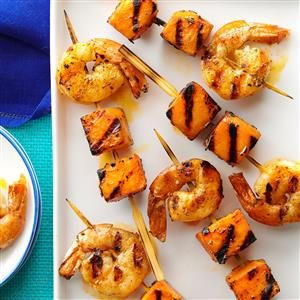 Mini Shrimp & Sweet Potato Kabobs Recipe