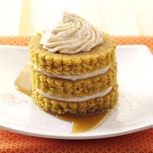Miniature Pumpkin Cake Towers Recipe