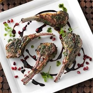 Mint-Pesto Lamb Chops Recipe
