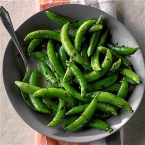 Minty Sugar Snap Peas Recipe