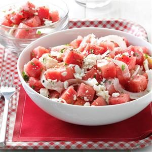 Minty Watermelon Salad