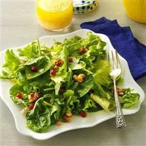 Vegetarian Menu #5 Salad: Mixed Greens with Lemon Champagne Vinaigrette