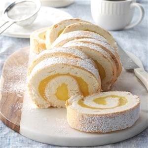 Moist Lemon Angel Cake Roll Recipe
