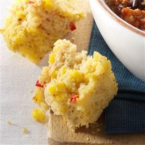 Moist Red Pepper Corn Bread Recipe