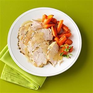 Moist Turkey Breast with White Wine Gravy Recipe