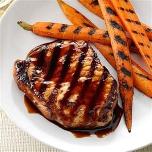 Grilled Pork Chops with Sticky Sweet Sauce Recipe