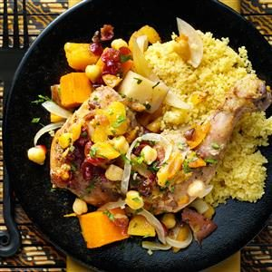 Moroccan Vegetable Chicken Tagine