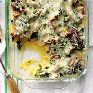 Mozzarella & Spinach Breakfast Casserole Recipe