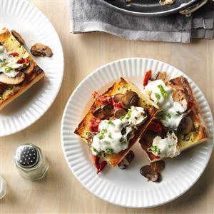 Mozzarella Mushrooms with Garlic Toast Recipe
