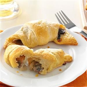 Mushroom & Onion Crescents Recipe