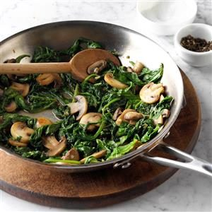 Mushroom and Spinach Saute Recipe