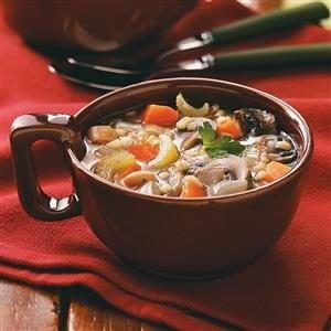 Mushroom Bean Barley Soup Recipe