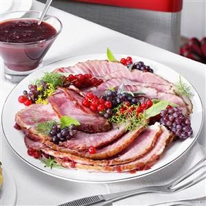 Mustard & Cranberry Glazed Ham Recipe