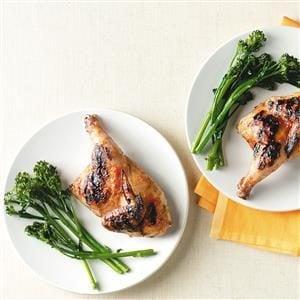 Nectarine Barbecued Cornish Hen