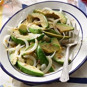 No-Fuss Avocado Onion Salad Recipe