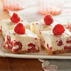 No Bake Raspberrry Lemon Bars Recipe