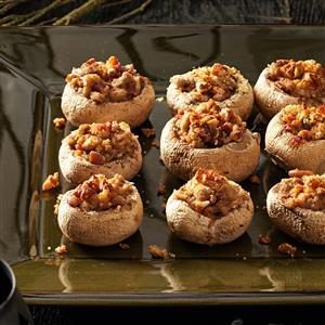 Nutty Stuffed Toadstools