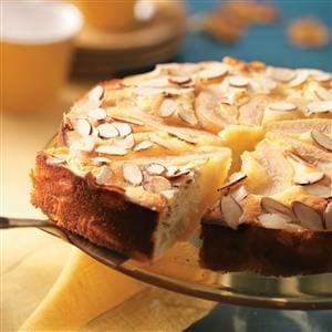 Old-Fashioned Almond Pear Cake Recipe