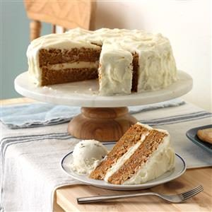 Old-Fashioned Carrot Cake with Cream Cheese Frosting Recipe