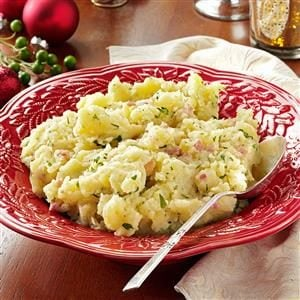 Olive Oil Mashed Potatoes with Pancetta Recipe