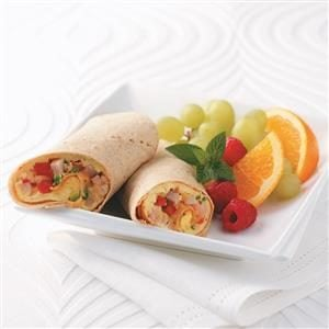 Omelet Tortilla Wrap Recipe