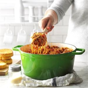 One-Pot Meaty Spaghetti Recipe