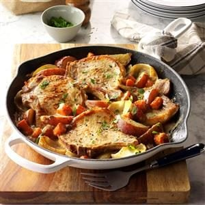 One-Skillet Pork Chop Supper Recipe