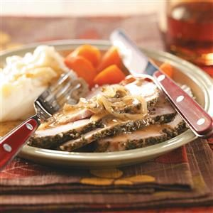 Onion-Topped Herbed Pork Roast Recipe