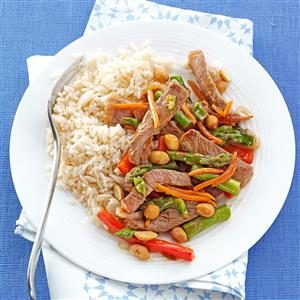 Orange Beef and Asparagus Stir-fry Recipe