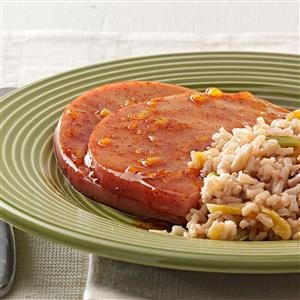 Orange-Glazed Ham Steaks Recipe