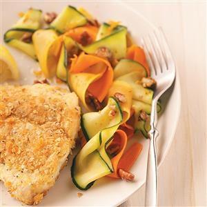 Orange-Maple Vegetable Ribbons Recipe