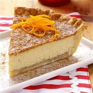Orange Natilla Custard Pie Recipe