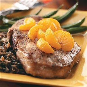 Orange-Topped Chops Recipe