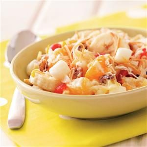 Orzo Cheesecake Fruit Salad Recipe