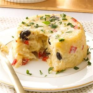 Orzo Timbales with Fontina Cheese Recipe