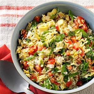 Orzo Vegetable Salad Recipe