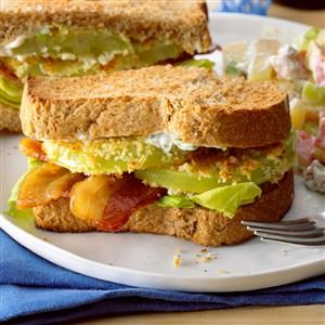 Oven-Fried Green Tomato BLT Recipe