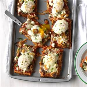 Overnight Baked Eggs Bruschetta